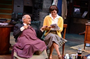 Tony Abatemarco and Paige Lindsey White in TRYING at International City Theatre