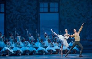 Victoria Jaiani, Dylan Gutierrez and the Joffrey Ballet in Christopher Wheeldon's SWAN LAKE - Photo by Cheryl Mann.