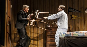 Richard Chamberlain and Ben Schnetzer in The New Group production of David Rabe's Sticks and Bones. PHOTO CREDIT: Monique Carboni.