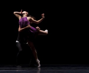 Aaron Carr and Julia Eichten in William Forsythe's QUINTETT by L.A. Dance Project. Photo by Rose Eichenbaum.