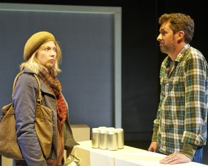 Alex Gillmor and Kendra Thulin in Steep Theatre's THE VANDAL. Photo by Lee Miller.