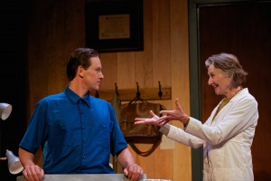 Alex Podulke (as Julian), Barbara Kingsley (as Claire) in Uncanny Valley by Thomas Gibbons - photo by Seth Freeman.
