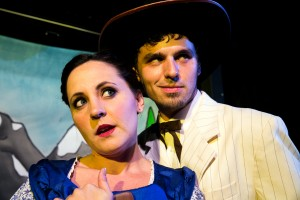Ashley Kane and Gregory Nabours in Coeurage Theatre Company's CANNIBAL! THE MUSICAL. Photo by Nardeep Khurmi.