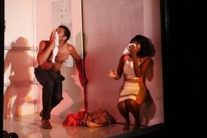 Biko Eisen-Martin and MaameYaa Boafo in Walter Mosley's LIFT at 59E59 Theaters - Photo by Carol Rosegg
