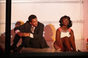 Biko Eisen-Martin and MaameYaa Boafo in Walter Mosley's LIFT at 59E59 Theaters. Photo is by Carol Rosegg