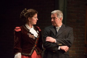 Christa Buck and Russell Alan Rowe in BoHo Theatre's production of PARADE.