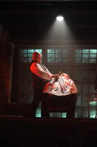 David Girolmo and Edward J. MacLennan in Porchlight Music Theatre's production of SWEENEY TODD. Photo by Brandon Dahlquist.,jpg