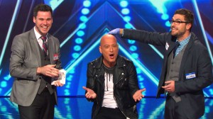 David and Leeman with Howie Mandel on AMERICA'S GOT TALENT.