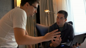 Edward Snowden and Glenn Greenwald in Hong Kong in Laura Poitras's documentary CITIZENFOUR.