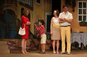 Emily Skinner, Jonah Broscow, Abby Sammons and David Naughton in 42nd Street Moon's production of DO I HEAR A WALTZ