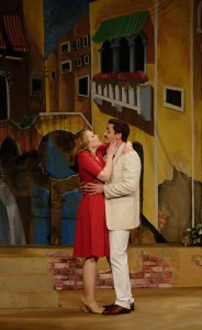 Emily Skinner and Tyler McKenna in 42nd Street Moon's production of DO I HEAR A WALTZ