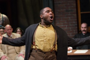 Eric Lewis as Jim Conley in BoHo Theatre's production of PARADE.