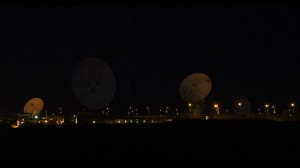 GCHQ satellites in Bude, England. From Laura Poitras's documentary CITIZENFOUR. Photo by Trevor Paglen.