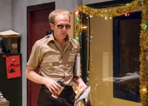 Gabriel James Franken in Pavement Theater Group's BUDDY COP 2. Photo by Michael Courier.