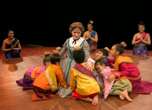 Heidi Kettenring with cast in THE KING AND I at The Marriott Theatre. Photo by Mark Campbell.