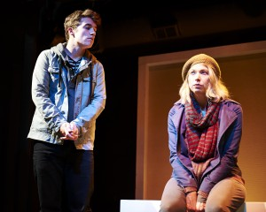 Jack Miggins and Kendra Thulin in Steep Theatre's THE VANDAL -photo by Lee Miller.