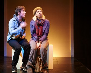 Jack Miggins and Kendra Thulin in Steep Theatre's THE VANDAL. Photo by Lee Miller.