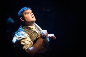 Jarrod Zayas in James Dickey's Deliverance at 59E59 Theaters. Photo by Jason Woodruff