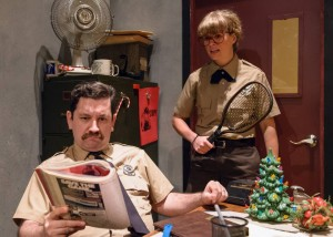 Joe Zarrow and Cyd's Not on FB in Pavement Theater Group's BUDDY COP 2 - photo by Michael Courier.
