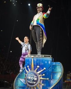 Johnathan Lee Iverson + Paulo dos Santos in Ringling Bros. Barnum & Bailey's LEGENDS.