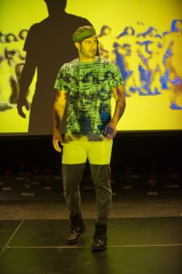 Joseph Sultani in THE HUNDRED FLOWERS PROJECT at Silk Road Rising. Photo by Michael Brosilow.