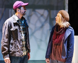 Kendra Thulin and Alex Gillmor in Steep Theatre's THE VANDAL. Photo by Lee Miller.