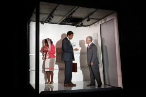 MaameYaa Boafo, Biko Eisen-Martin, John Thomas Resterly in Walter Mosley's LIFT at 59E59 Theaters. Photo by Carol Rosegg