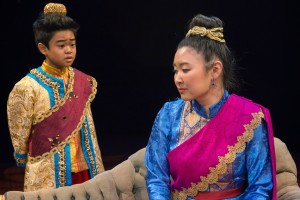 Matthew Uzarraga and Kristen Choi in THE KING AND I at The Marriott Theatre. Photo by Mark Campbell.