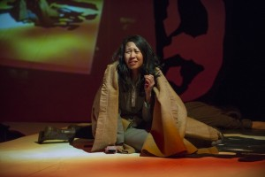 Melissa Canciller in THE HUNDRED FLOWERS PROJECT at Silk Road Rising. Photo by Michael Brosilow.