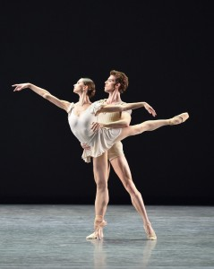 Polina Semionova and James Whiteside in BACH PARTITA by Twyla Tharp. Photo by Gene Schiavone.