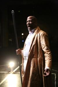 Reg E Cathey as Prospero in TEMPEST at La MaMa. Photo by Steven Schreiber.