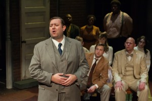 Scott Danielson as Dorsey in BoHo Theatre's production of PARADE.