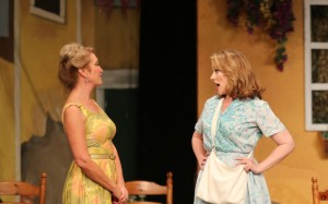 Stephanie Rhoads and Emily Skinner in 42nd Street Moon's production of DO I HEAR A WALTZ