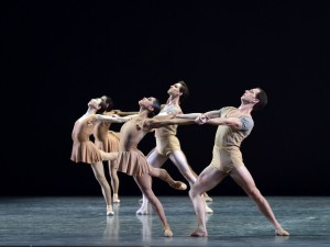 The ensemble in ABT's BACH PARTITA by Twyla Tharp. Photo by Gene Schiavone.