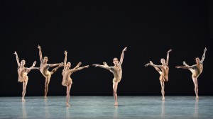 The ensemble of ABT's BACH PARTITA by Twyla Tharp. Photo by Gene Schiavone.