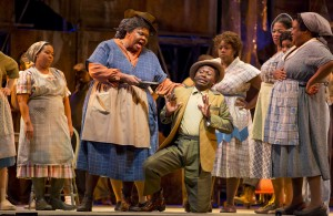 Gwendolyn Brown and Jermaine Smith in PORGY AND BESS at Lyric Opera of Chicago. Photo by Todd Rosenberg.
