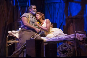 Eric Owens and Adina Aaron in PORGY AND BESS at Lyric Opera of Chicago. Photo by Todd Rosenberg.