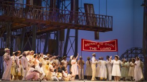 The ensemble in PORGY AND BESS at Lyric Opera of Chicago. Photo by Todd Rosenberg.
