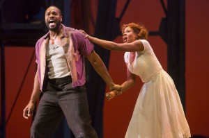 Eric Greene and Adina Aaron in PORGY AND BESS at Lyric Opera of Chicago. Photo by Todd Rosenberg.