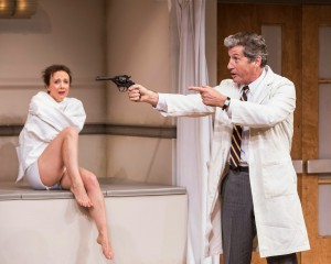Scene from WHAT THE BUTLER SAW at the Mark Taper Forum in Los Angeles. Photo by Craig Schwartz.