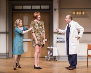 "L-R: Frances Barber, Angus McEwan and Paxton Whitehead in Joe Orton's ""What the Butler Saw"" at the Center Theatre Group/Mark Taper Forum.  Directed by John Tillinger, ""What the Butler Saw"" plays November 12 through December 21, 2014.  Opening is November 23.  For tickets and information, please visit CenterTheatreGroup.org or call (213) 628-2772. Contact: CTGMedia@CenterTheatreGroup.org / (213) 972-7376 Photo by Craig Schwartz"
