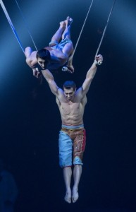 AERIAL STRAPS from Cirque du Soleiel's KURIOS - CABINET OF CURIOSITIES. Photo by Martin Girard.