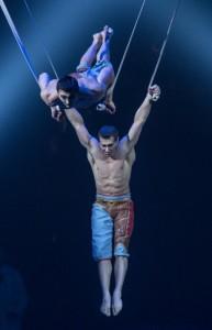 AERIAL STRAPS from Cirque du Soleiel's KURIOS - CABINET OF CURIOSITIES. Photo by Martin Girard.