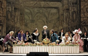 Act I Dinner Party of San Francisco Opera's LA CENERENTOLA. Photo by Cory Weaver.