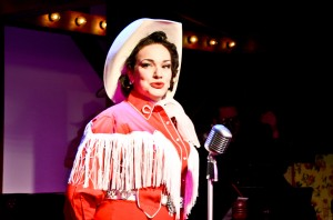 Christina Hall in ALWAYS… PATSY CLINE at Theo Ubique Cabaret Theatre. Photo by Adam Veness.