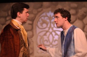 Jared Dennis as Polixenes and Nick Lake as Camillo in Promethean Theatre Ensemble's THE WINTER'S TALE. Photo by Tom McGrath.