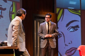 Johnny Moreno and Jeffrey Brian Adams in San Francisco Playhouse's production of PROMISES, PROMISES. Photo by Jessica Palopoli.