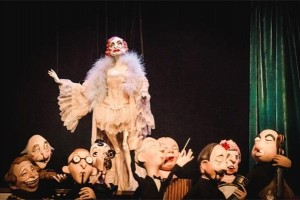 Jolie-Jolie and the band from puppet master Ronnie Burkett's production of The Daisy Theatre