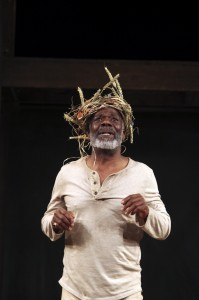 Joseph Marcell as Lear in the Globe on Tour production of KING LEAR. Photo by Ellie Kurttz.