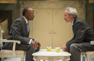 L. Peter Callender and Dan Hiatt in Aurora Theatre Company's West Coast Premiere of Breakfast with Mugabe.